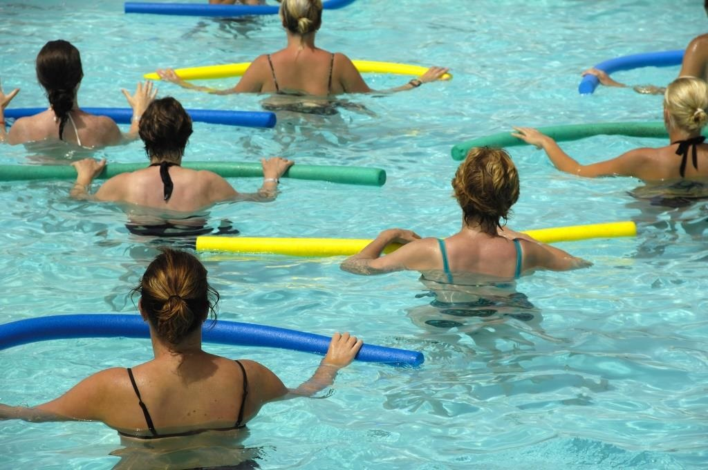 Women at aqua exercise class