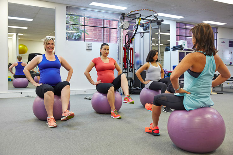 Article author Shira Kramer leading a pregnancy fitness class